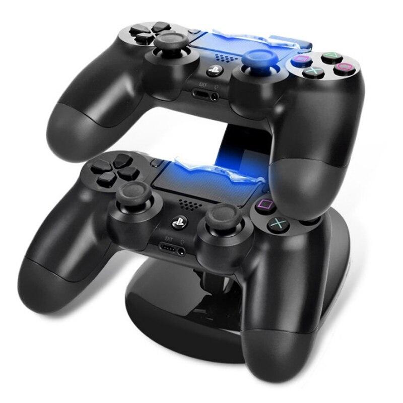 Controlador Charger Doca LED Dual USB Suporte De Carregamento Station Cradle para Sony Playstation 4 PS4 PS4/PS4 Pro/ PS4 Controlador Fino