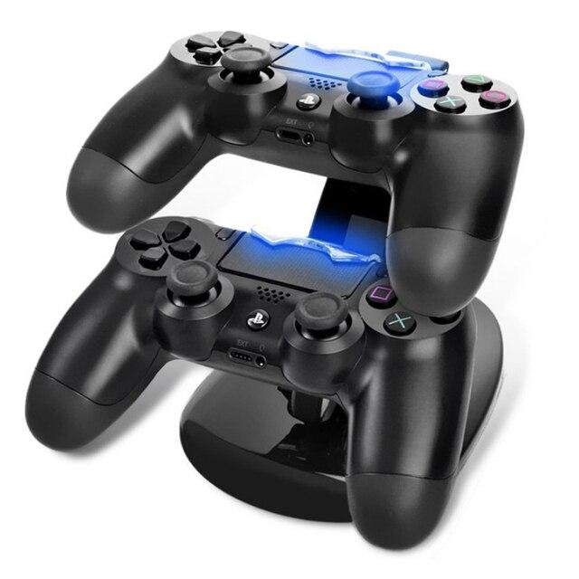 充電ドック LED デュアル USB PS4 充電スタンドステーションクレードルプレイステーション 4 PS4/PS4 プロ/ PS4 スリムコントローラ