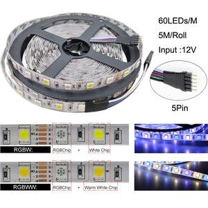 Image 2 - 5050 RGBW/WW LED Strip Licht WIFI Controller Neon Lamp 20 M Strepen Decor Flexibele Tape tira fita Diode lint DC 12 V Adapter Set