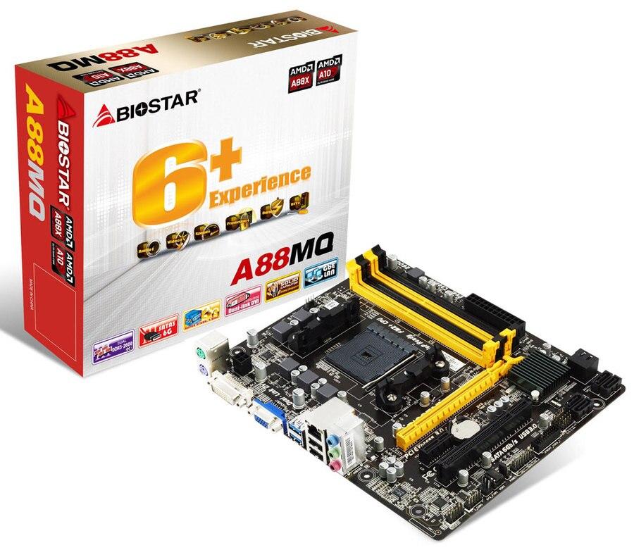 Free shipping   Biostar A88MQ Socket FM2/FM2+ DDR3 USB2.0 USB3.0 32GB SATA3 Micro ATX  Desktop MotherboardFree shipping   Biostar A88MQ Socket FM2/FM2+ DDR3 USB2.0 USB3.0 32GB SATA3 Micro ATX  Desktop Motherboard