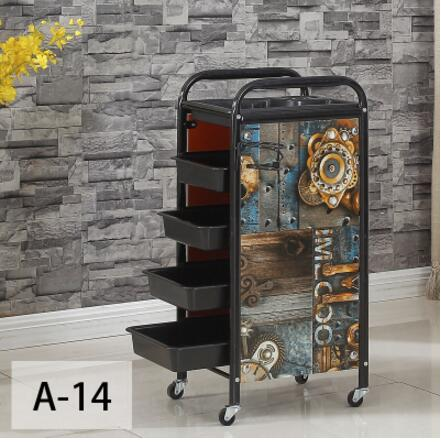 Hair car beauty stroller hair salon press dyeing tool car hair salon trolley bar car new European style.
