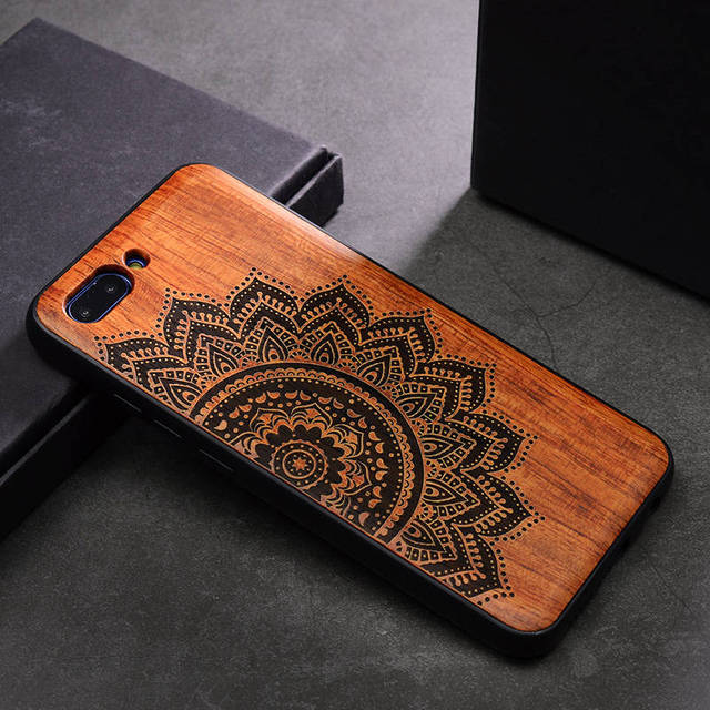 Wooden Phone Case for Huawei Honor 10 with Silicone Protective Layer