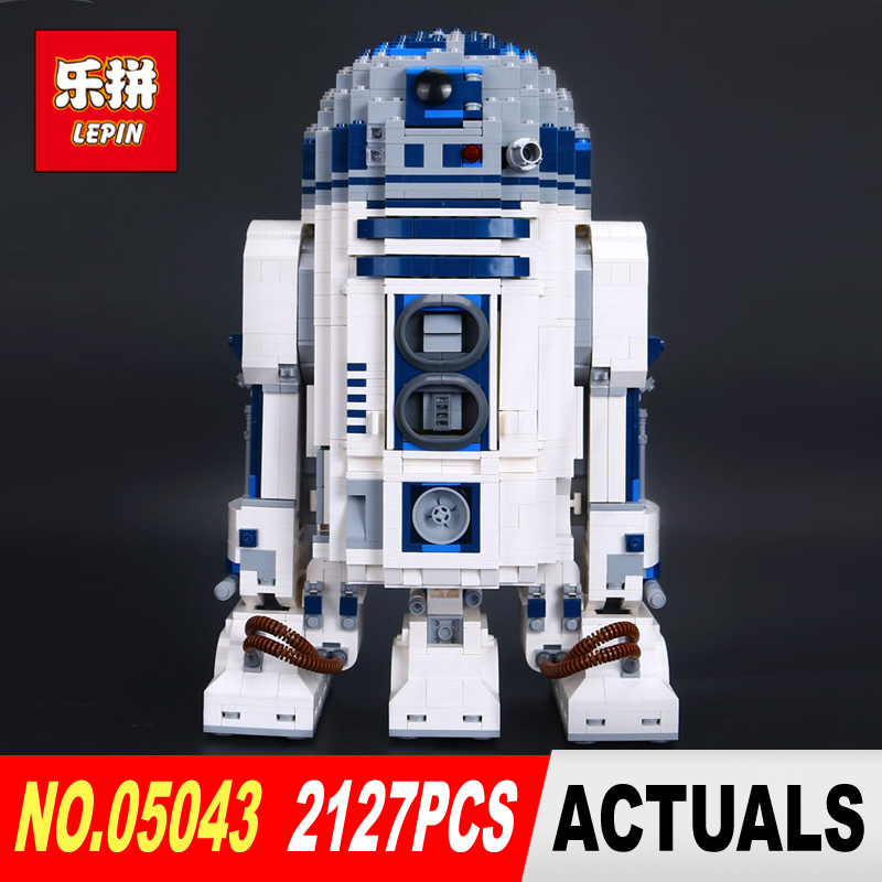 2127Pcs Lepin 05043 Star Genuine Blocks Wars Series The R2 Robot Set Out of print D2 Building Blocks Bricks Toys Model 10225 robot building blocks lepin 05043 2127pcs star series wars r2 d2 bricks model educational toys 10225 children boys toys gifts