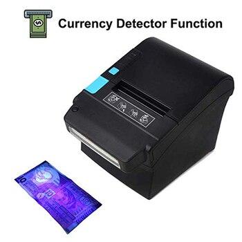 ISSYZONEPOS Thermal Receipt Printer 80mm Currency Identify Detector Printer Cashier Ticket Queue POS Printer Supermarket Grocery