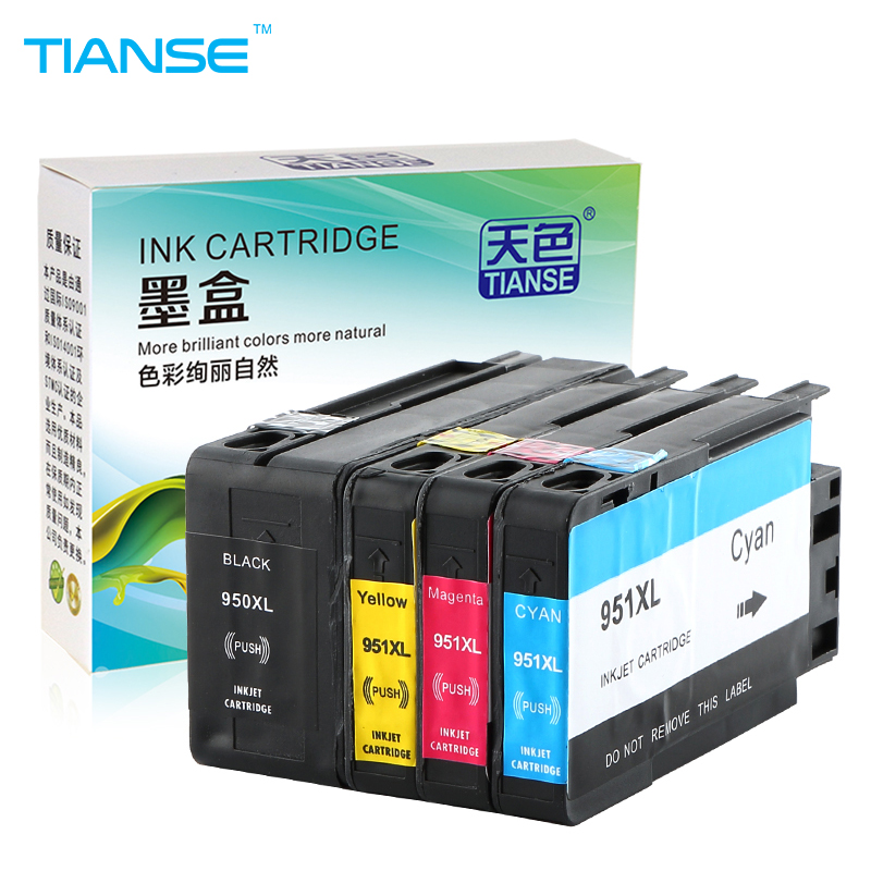 TIANSE for HP 950XL for HP 950 XL 951XL HP950XL HP950 ink cartridge For HP Officejet Pro 8600 8610 8615 8620 8630 8625 8660 8680 for hp 951 951xl magenta ink cartridge for hp officejet pro 8100 8610 8620 8630 8600 8660 8640 8680 8615 printer