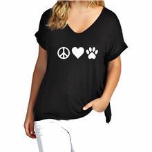 Peace, love animals women's blouse