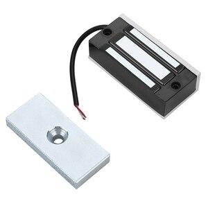 Image 4 - Serrure électromagnétique magnétique électrique de porte de Dc24V 60Kg tenant laccès dentrée Mini