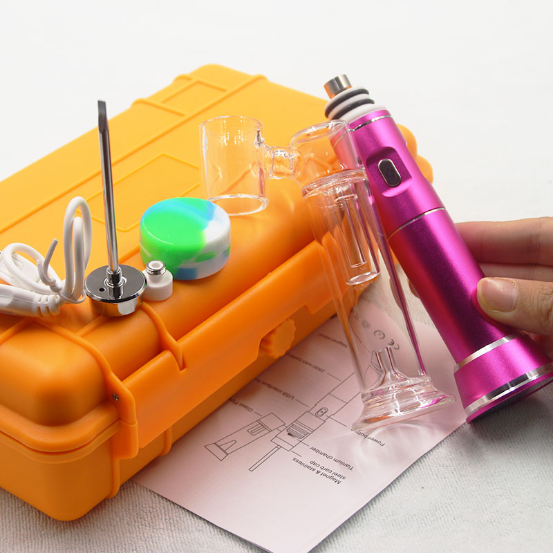 Enail Portable G9 Wax Pen Henail Dab Rig With Titanium nail Glass Bubble Water Bong Kits Воск
