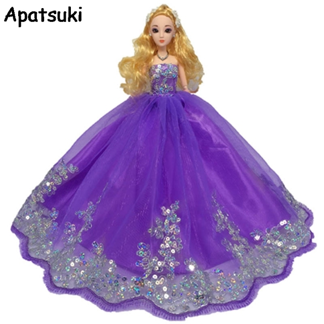 High Quality Colorful Big Doll Dress For Barbie Doll Lace Evening ...