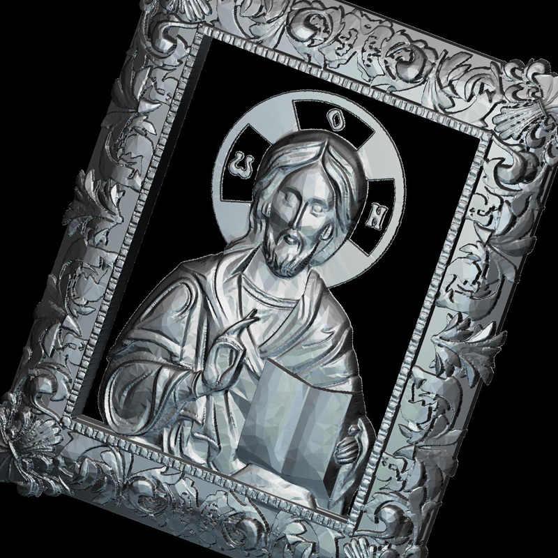 Icono de Jesucristo 3d modelo para cnc formato STL religión 3d relieve modelo STL Router 3 axis grabador ArtCam