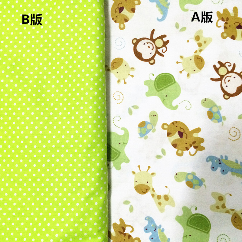 160cm*50cm Monkey Cartoon Baby Print Cotton Fabric Bed Sheets Duvet Cover  Linens Pillow Curtains Fabric For Sewing Qulit Tissues In Fabric From Home  ...