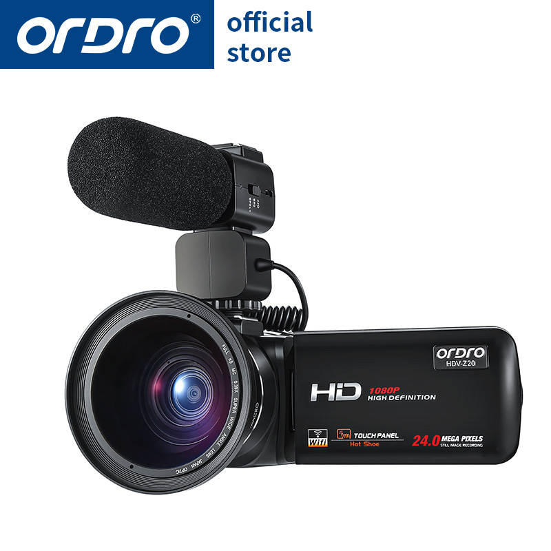 Ordro Video Camera 1080P Full HD Camcorder with Wifi  (HDV-Z20)
