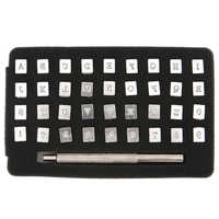36pcs/set Metal Alphabet Letter Punch Stamps for Leather Craft DIY Stamping Tool