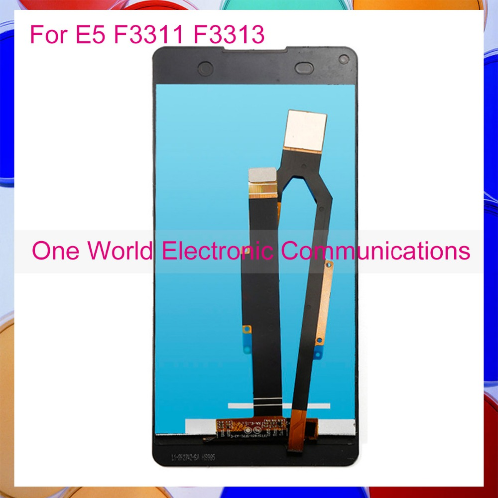 One World 5.0 For Sony Xperia E5 F3311 F3313 Full LCD Screen Display Digitizer With Touch Screen Complete Assembly Black White