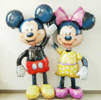 Xxpwj送料無料2ピース/ロットアルミ風船誕生日パーティー子供のおもちゃ女王ミニーミッキーバルーン卸売輸入