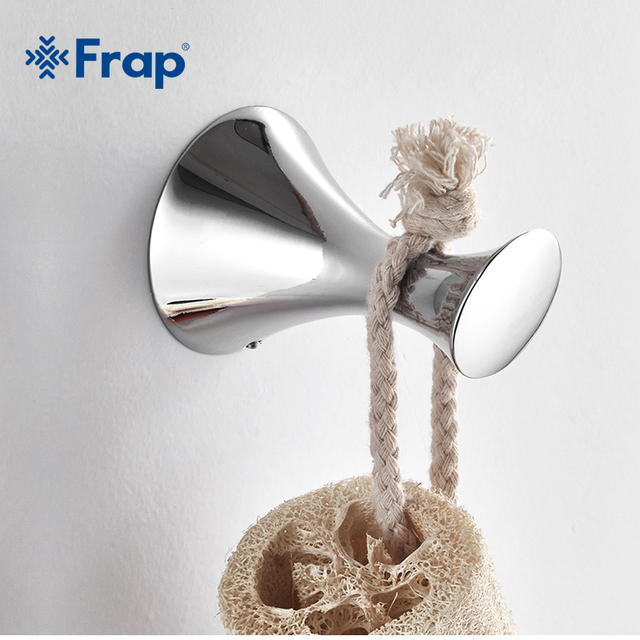 Frap Zinc alloy Robe hook wall mount single screw towel holder Bathroom Accessories clothes hook F3505