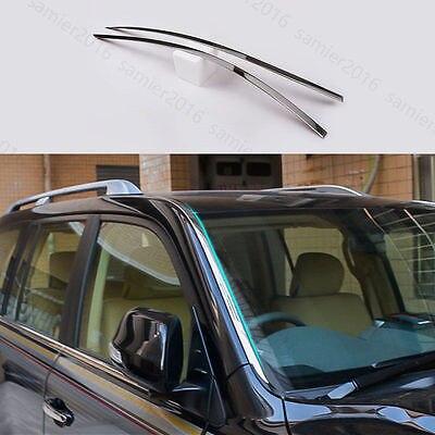 2 pièces en acier inoxydable pour Toyota Land Cruiser 13-17 garniture de couverture de pare-brise avant