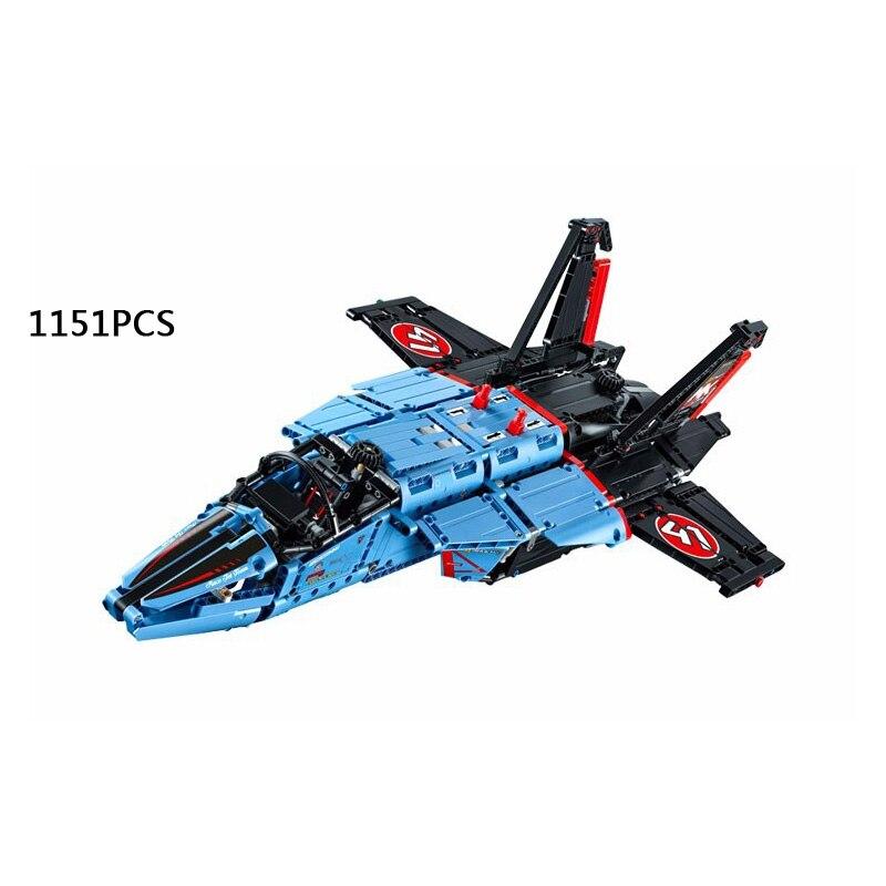 2017 new DIY technics technican air race jet plane building block model compatible city 42066 gift toy for kids technics technics rp dj1215e s