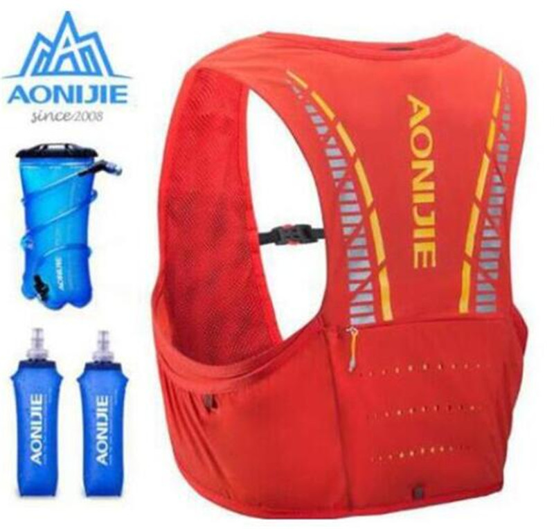 AONIJIE 5L Running Bag Outdoor Sports Backpack Women Men Marathon Hydration Vest Pack Water Bladder Backpack