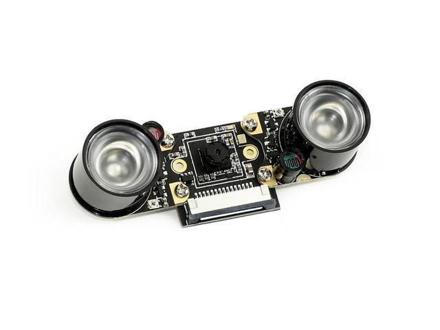 Caméra IMX219 77IR Waveshare, 8 mégapixels, Vision nocturne infrarouge, FOV de 77 degrés, Applicable pour Jetson Nano
