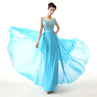 2018 Newest Long Bridesmaid Dress Cheap A Line Sleeveless Lace Chiffon Backless Wedding Party Gown Plus Size