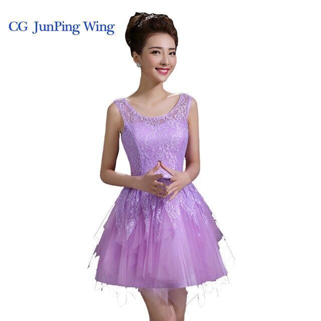 8386fd5eb Corto vestido de fiesta ocasión especial Vestidos 2015 nueva lindo elegante púrpura  blanco rojo Encaje up