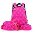 Impermeable de Los Niños bolsas escolares para Las Niñas adolescentes conjunto Princesa de Impresión Mochilas mochila de gran capacidad mochila escolar