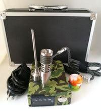 Newest E nail rig electronic dabbing wax dab tool PID TC controll box with Titanium domeless nails E-nail D-nail kits