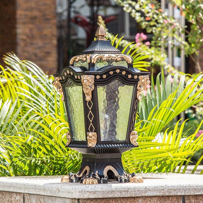 Europe pillar lamp outdoor garden light waterproof home villa fence outdoor lights europe standard 75ft home garden flexible natural latex water pipe blue