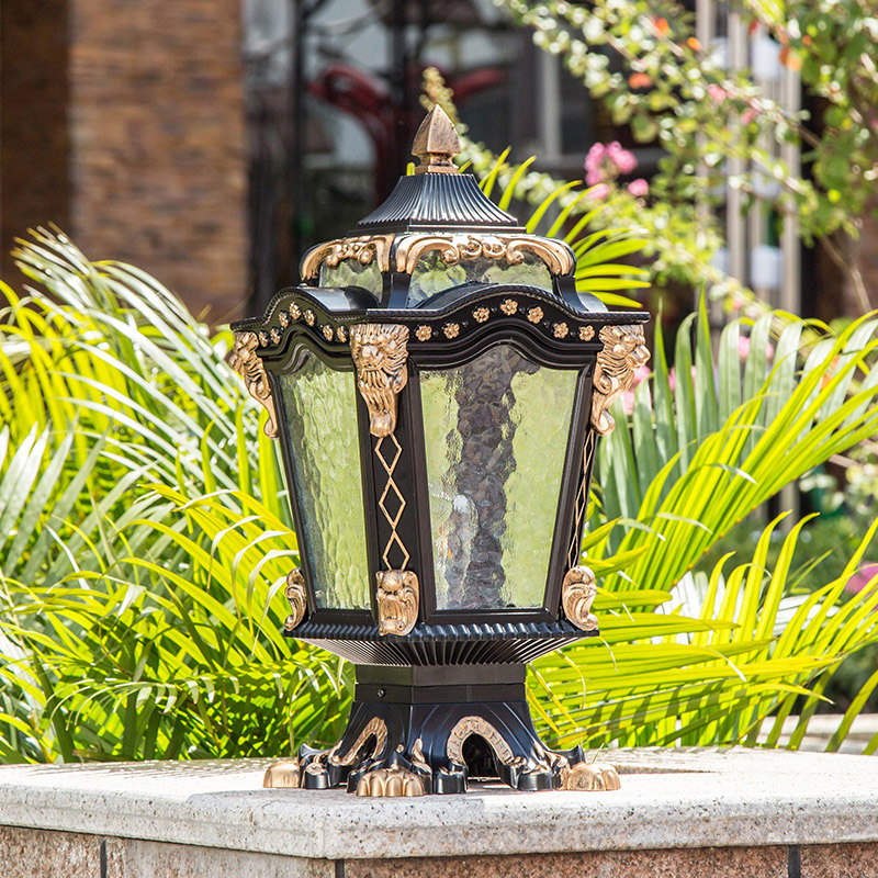 Europe style creative pillar lamp outdoor garden light waterproof home villa fence residential balcony sconce стиральная машина узкая lg f12u1hbs4
