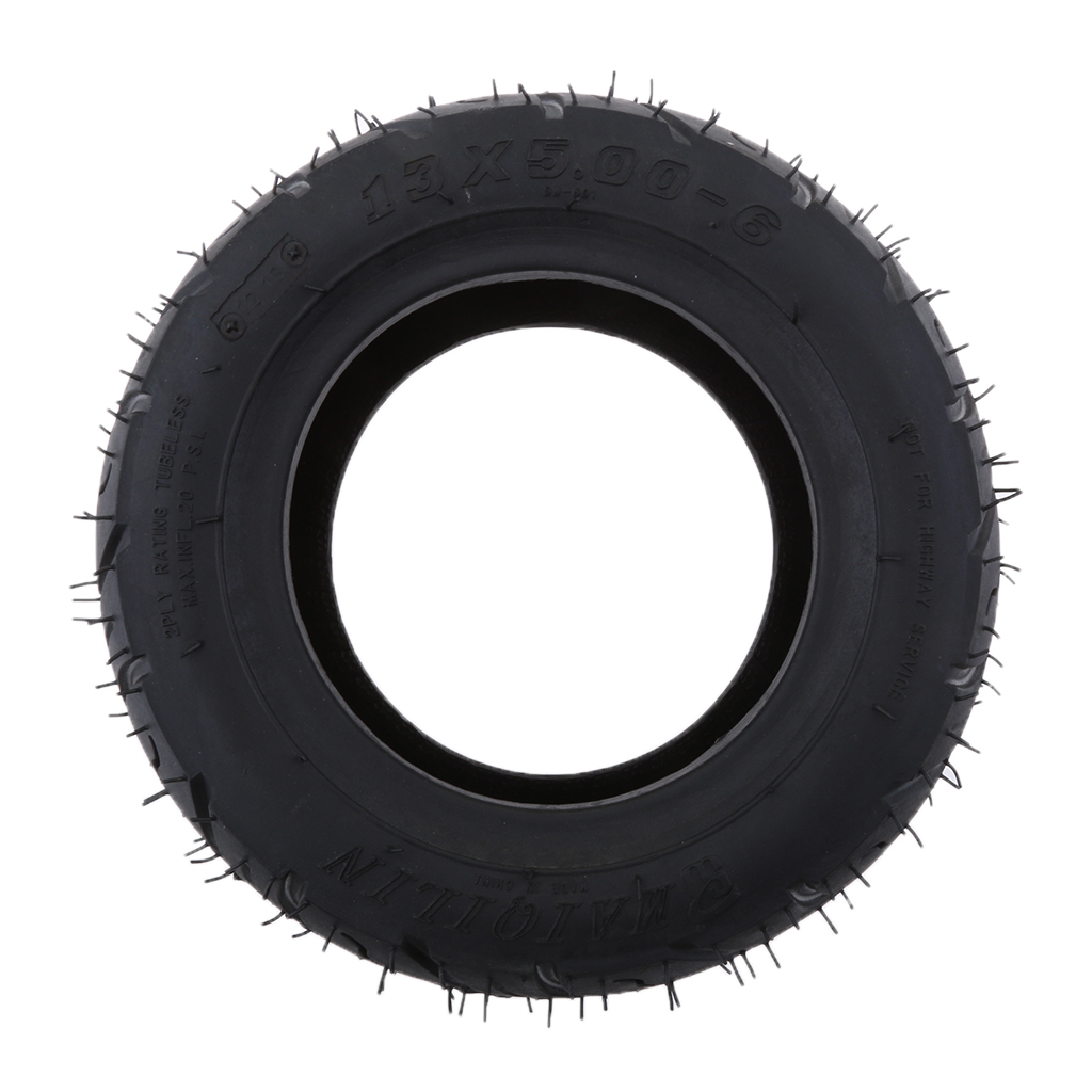 13x5.00 6 Inch Rubber Motorcycle Bike Tread Tire For Folding Bike Scooters Quad Dirt Bike Black