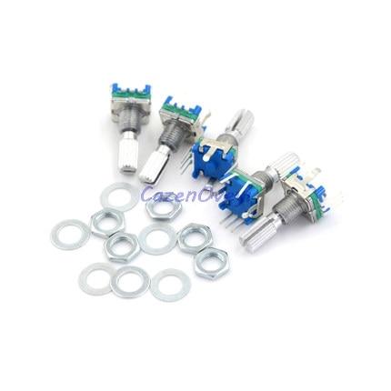 5 pièces/lot prune poignée 15mm codeur rotatif commutateur de codage/EC11/potentiomètre numérique avec interrupteur 5 broches en Stock