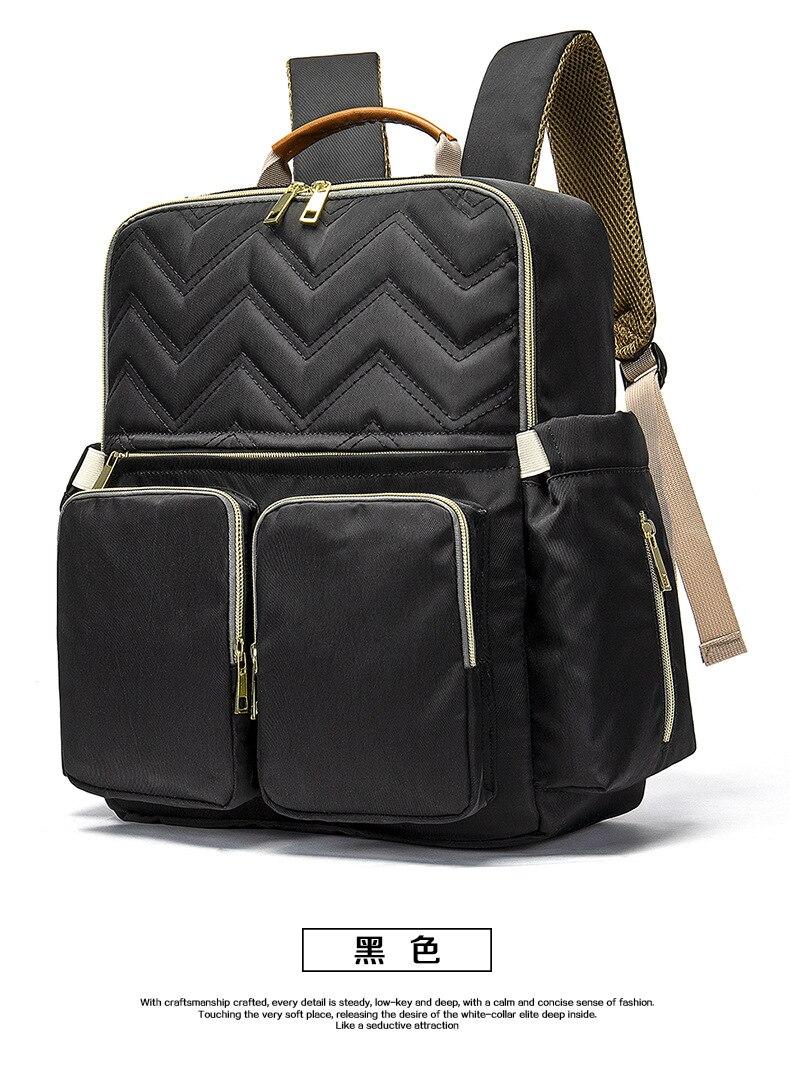 2019 New Baby Diaper Bag Interface Large Capacity Waterproof Nappy Bag Kits Mummy Maternity Travel Backpack Nursing (26)