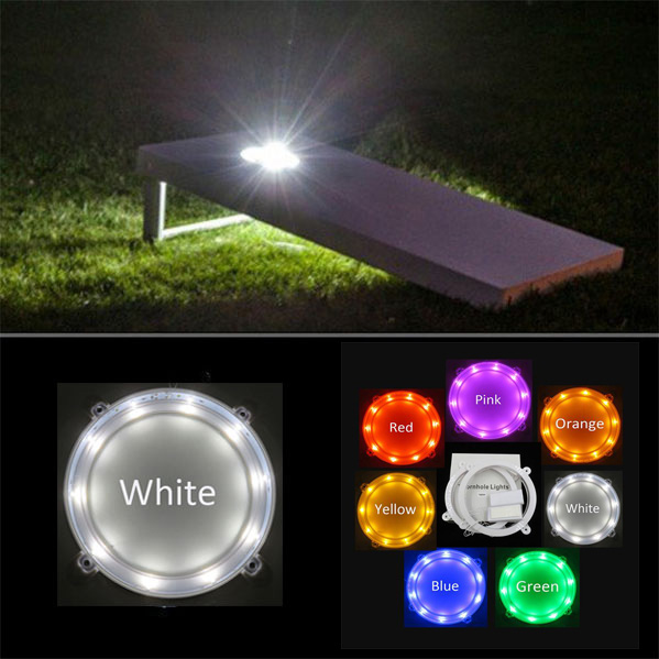 US $15 99 |Mixture color Cornhole LED Board Lights (set of 2),7 Colors,  Sturdy Build,for Bean Bag Toss Cornhole Games-in Holiday Lighting from  Lights