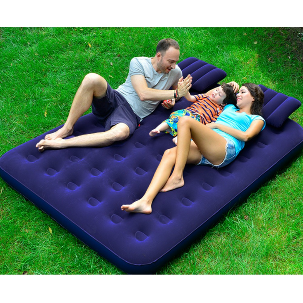Brand NEW Air Mattress Inflatable Downy Sleeping Bed Camping Durable Flocked PVC Camping Mat For Outdoor Sports