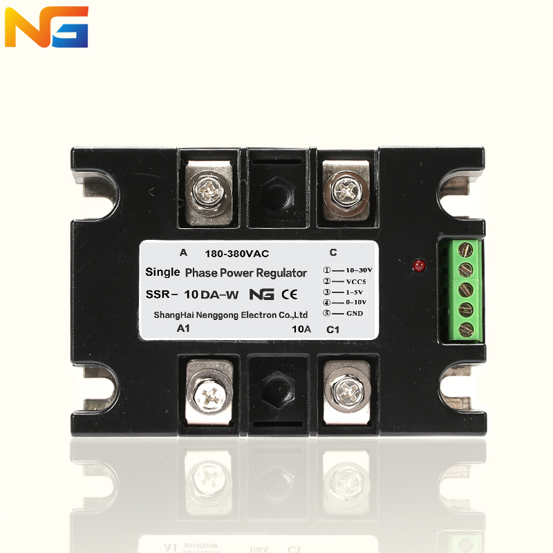 Single phase voltage regulator module isolating AC 10A SCR dynamometer thyristor power control heating Nenggong jrled e27 12w 1000lm 3300k 60 smd 2835 led warm white horizontal lamp white silver ac 85 265v