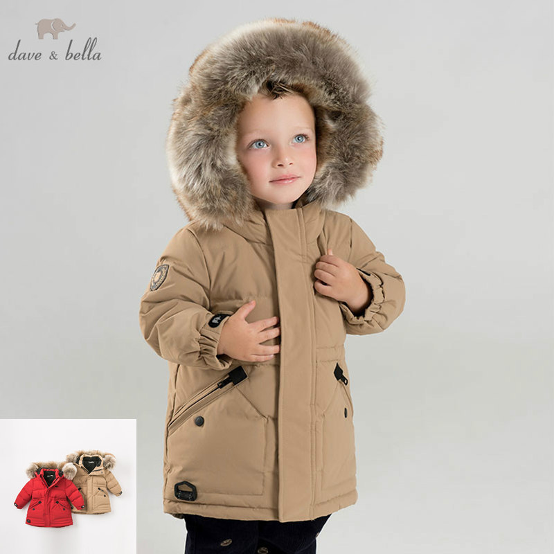f8499fb60 DB8855 dave bella winter baby boys down jacket children white duck ...