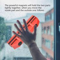 Магнитное Устройство для чистки окон для застекленного окна Двусторонняя расчёски волос стекло Стеклоочиститель чистый мощность магниты