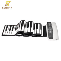 Senrhy Weiß Schwarz S-88 Professionelle 88 Tasten Roll Up Piano mit MIDI Tastatur für Tastatur Instruments Anfänger Liebhaber Neue