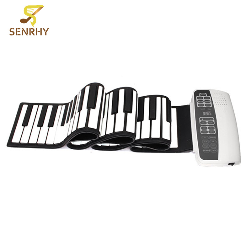 Senrhy White Black S-88 Professional 88 Key Roll Up Piano with MIDI Keyboard for Keyboard Instruments Beginners Lovers New акустика центрального канала heco music style center 2 piano white ash decor white