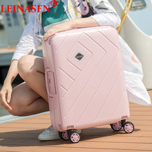 "Luggage PP new style Simple luggage 20"" 24"" 28"" inch trolley suitcase travel bag luggage bag Rolling luggage with spinner wheel(China)"