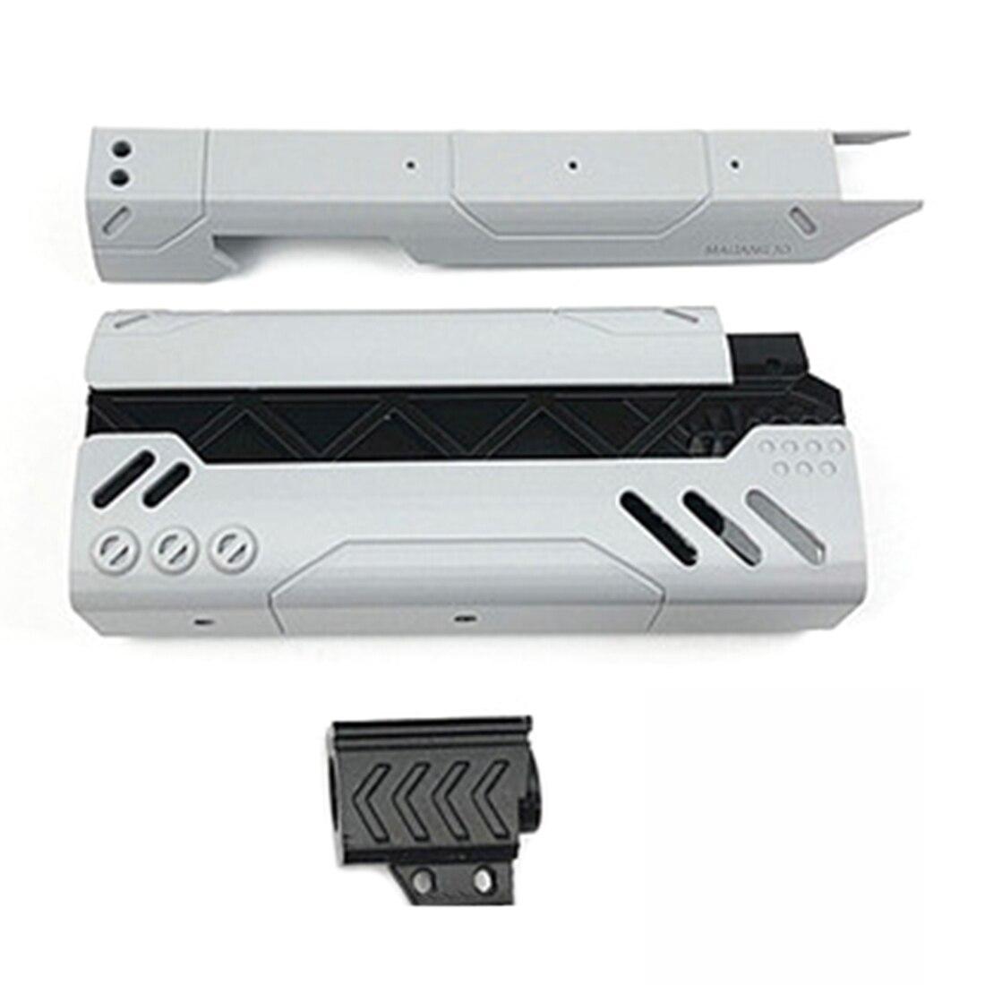 ML 3D Printing 200mm MOD2 Appearence Modification Kit for Nerf Zombie Strike SlingFire Blaster - Black + Grey