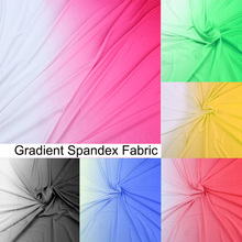 Knit Spandex Fabric Gradient For Dancing Dress Elastic Stretch Fabric for Latin Clothing ombre Lycra Fabric by Yard