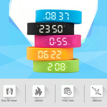 3D T5 LED Pedometers Smart Wristbands Watch Children Display Sports Gauge Fitness Bracelet Pedometers Smart Step Tracker Pedome(China)
