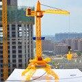 1 : 64 eléctrico grúa torre de control remoto, cable canal 4 de control remoto ingeniería, juguetes ingeniería de la grúa, envío gratis