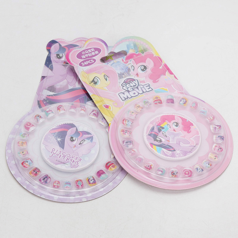 Image 5 - New My Little Pony Toys PVC Pony Stickers Pack Children Girl Nail Stickers Removable 3D Rainbow Dash Twilight Sparkle Pinkie Pie-in Action & Toy Figures from Toys & Hobbies