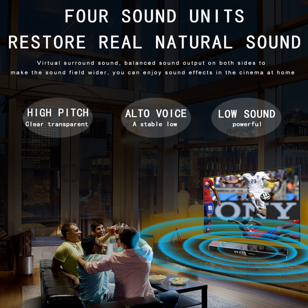 Image 4 - Bluetooth Soundbar Mini Column Dual Speaker Sound bar System TV Home Theater 3D Stereo DSP Surround Subwoofer NFC/Fiber/USB/RAC