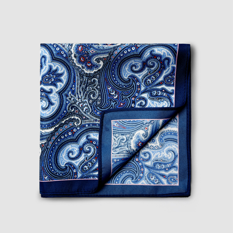 High Quality New Brand 2019 Men Pocket Square Handkerchief Floral Paisley Print Wedding Party Handkerchief For Men With Gift Box