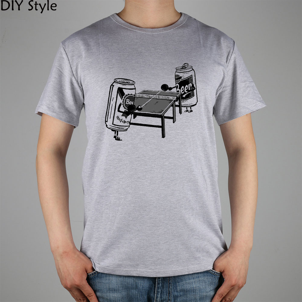 Funny Bl Table Ping Pong Beer Pong t-shirt Cotton Lycra Top 10989 Fashion Brand T Shirt Men New High Quality