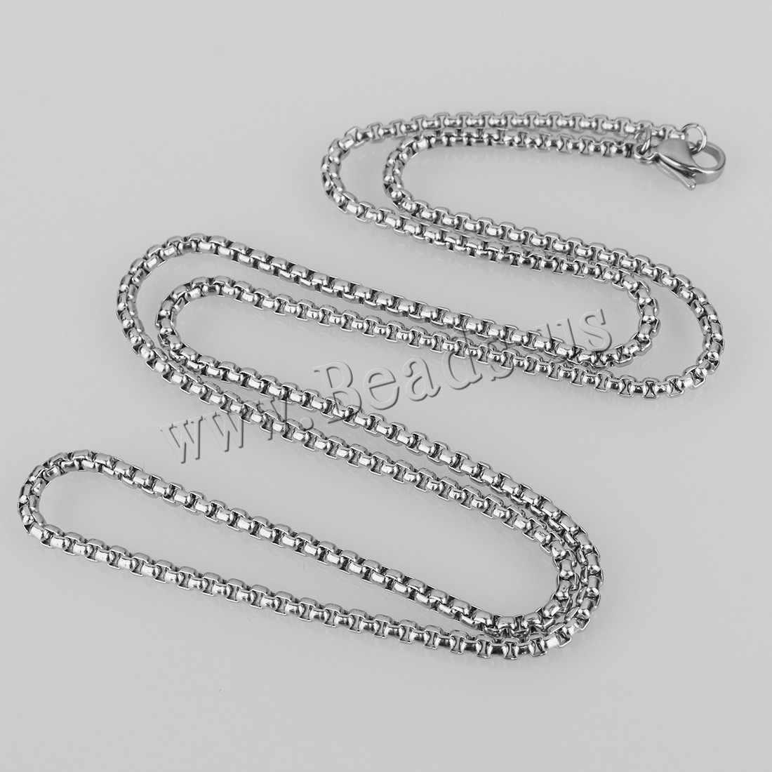 """2-4mm czarny Box naszyjnik łańcuch dla mężczyzn naszyjnik ze stali nierdzewnej mężczyzn naszyjnik hurtownie biżuteria 18- 36"""""""